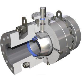 Sezione di una valvola industriale